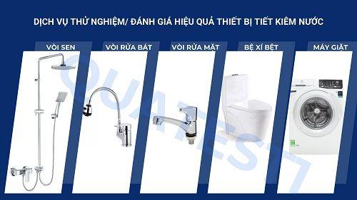 Dịch vụ thử nghiệm/ đánh giá hiệu quả và chứng nhận sản phẩm, thiết bị sử dụng tiết kiệm nước